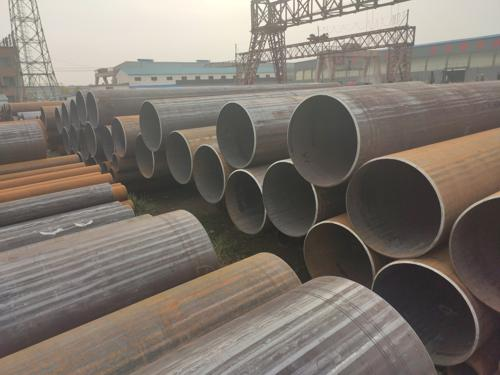 Large seamless steel pipe
